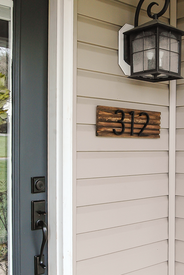 Modern house number sign