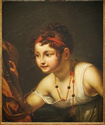 Figuration feminine pauline auzou 1775 1853 for Fille au miroir