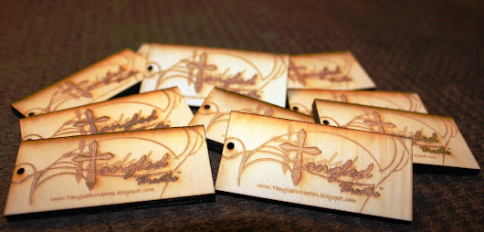 Tangled Wreaths™ - Wreath Tags With Official Logo By MDN Laser Engraving, Inc.