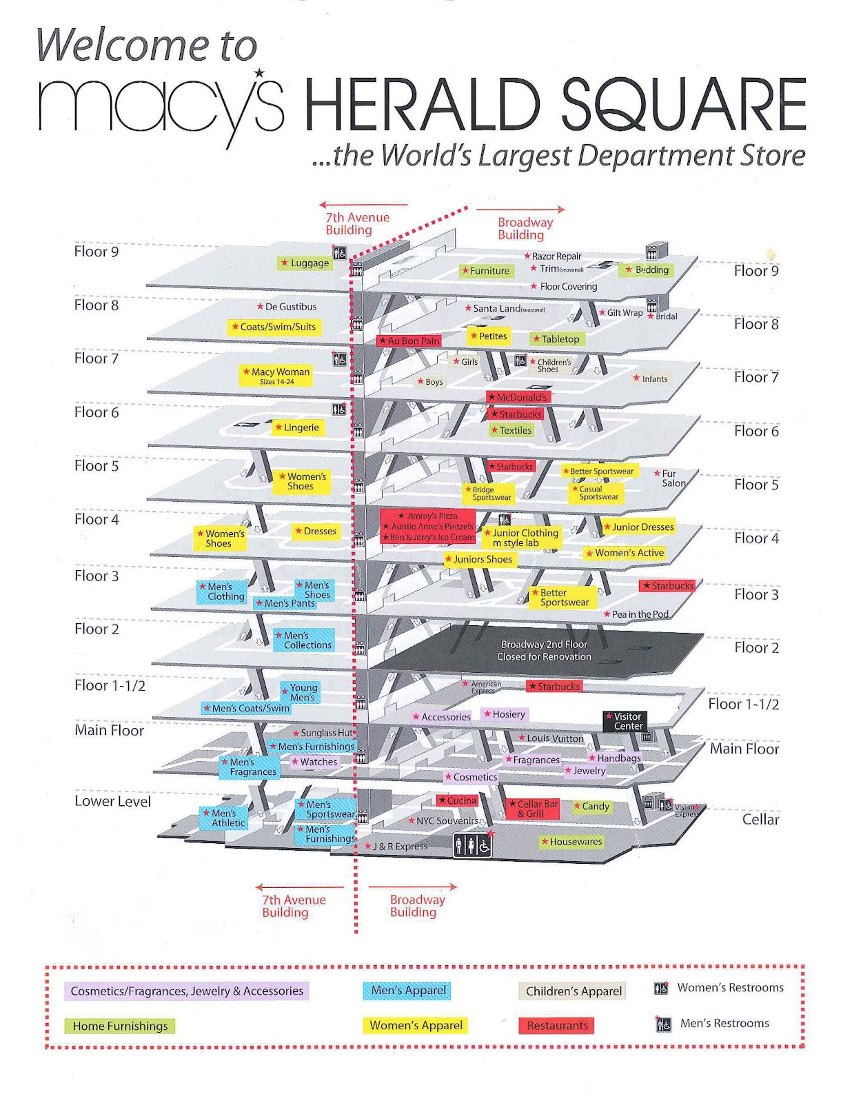 Fashion Herald: Macy's Herald Square: The Renovation Map on macy's nyc map, macy's app, macy's store, macy's restaurant nyc, macy's floor plan, macy's kitchen islands, the metropolitan museum of art map, macy's layout, hell's kitchen map, macy's new york, macy's department map, macy's hours, macy's icon, macy's furniture gallery, micello indoor map, st. patrick's cathedral map, macy parade map, macy's manhattan map, macy's floor map, john f. kennedy international airport map,