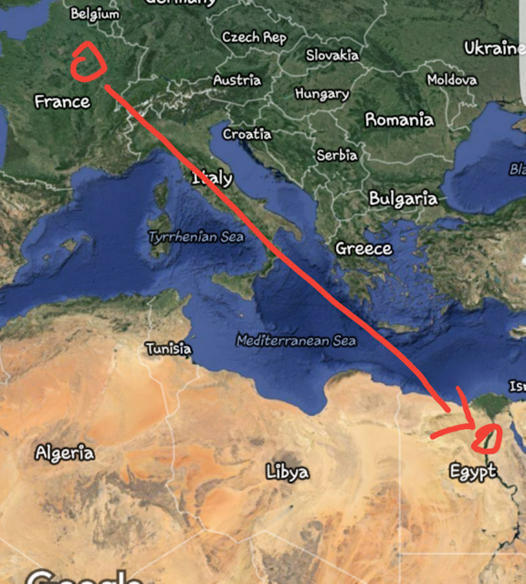 Egypt Air MS 804 flight route