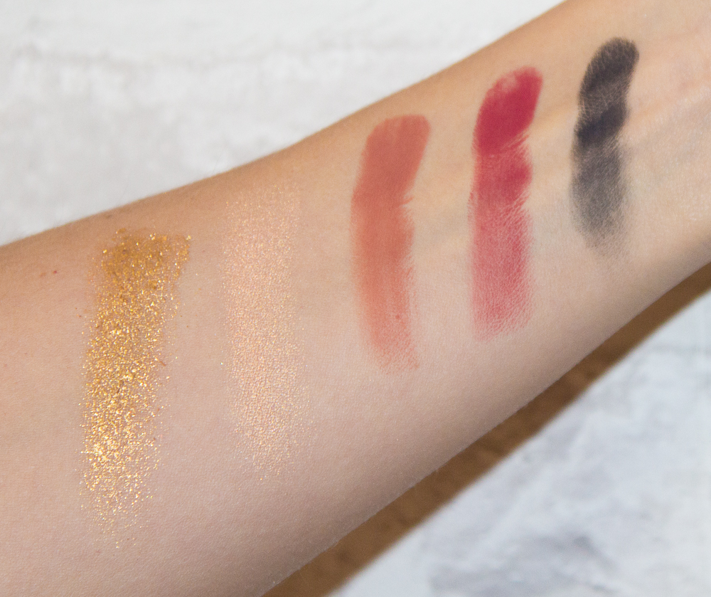 swatches - rose gold - huda beauty