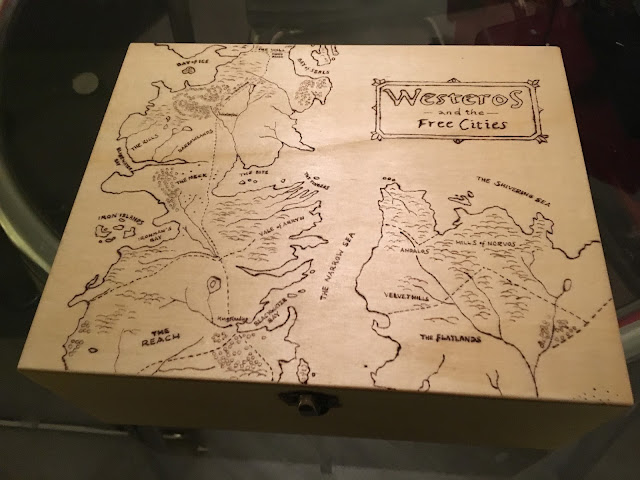 Game of Thrones Westeros Map Pyrography