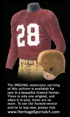 Washington Redskins 1948 uniform