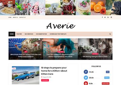 averie blogger template free responsive