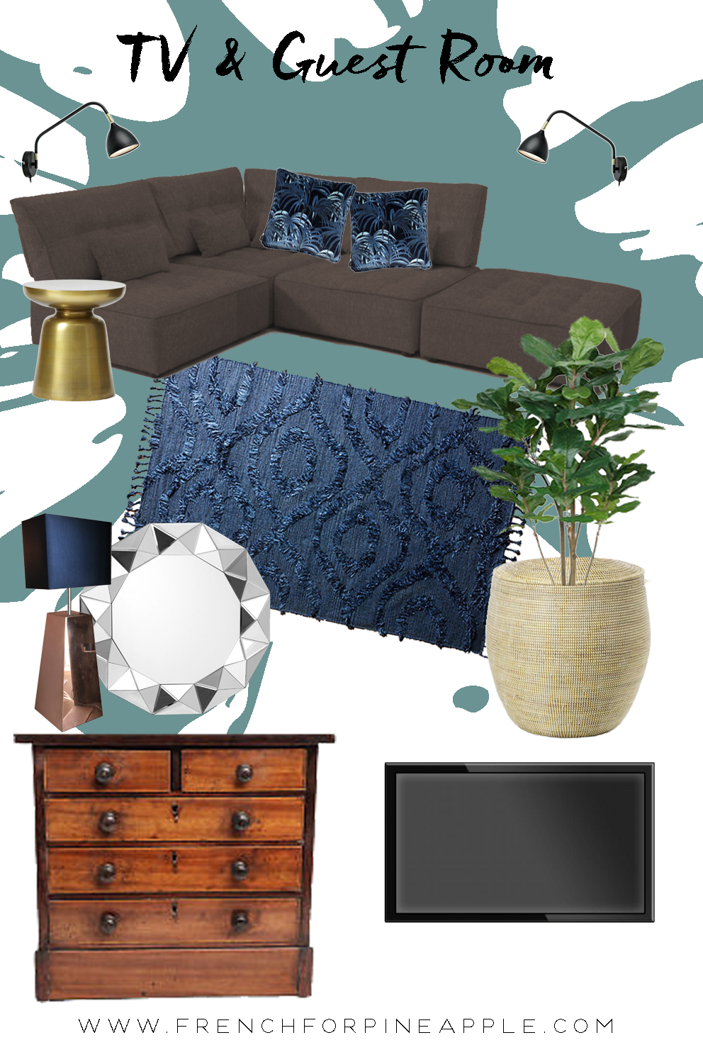 Family TV Room Reveal - French For Pineapple Blog - Moodboard