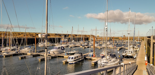 Photo of a cold sunny day at Maryport Marina