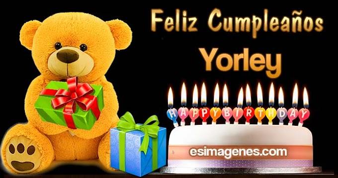 Feliz Cumpleaños Yorley