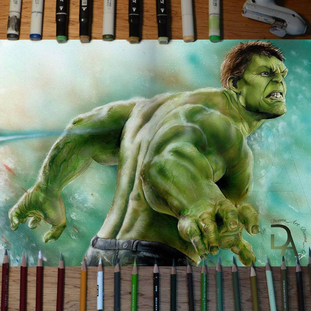03-The-Hulk-Dean-McCann-Superheroes-Villains-Monsters-and-Robot-Drawings-www-designstack-co