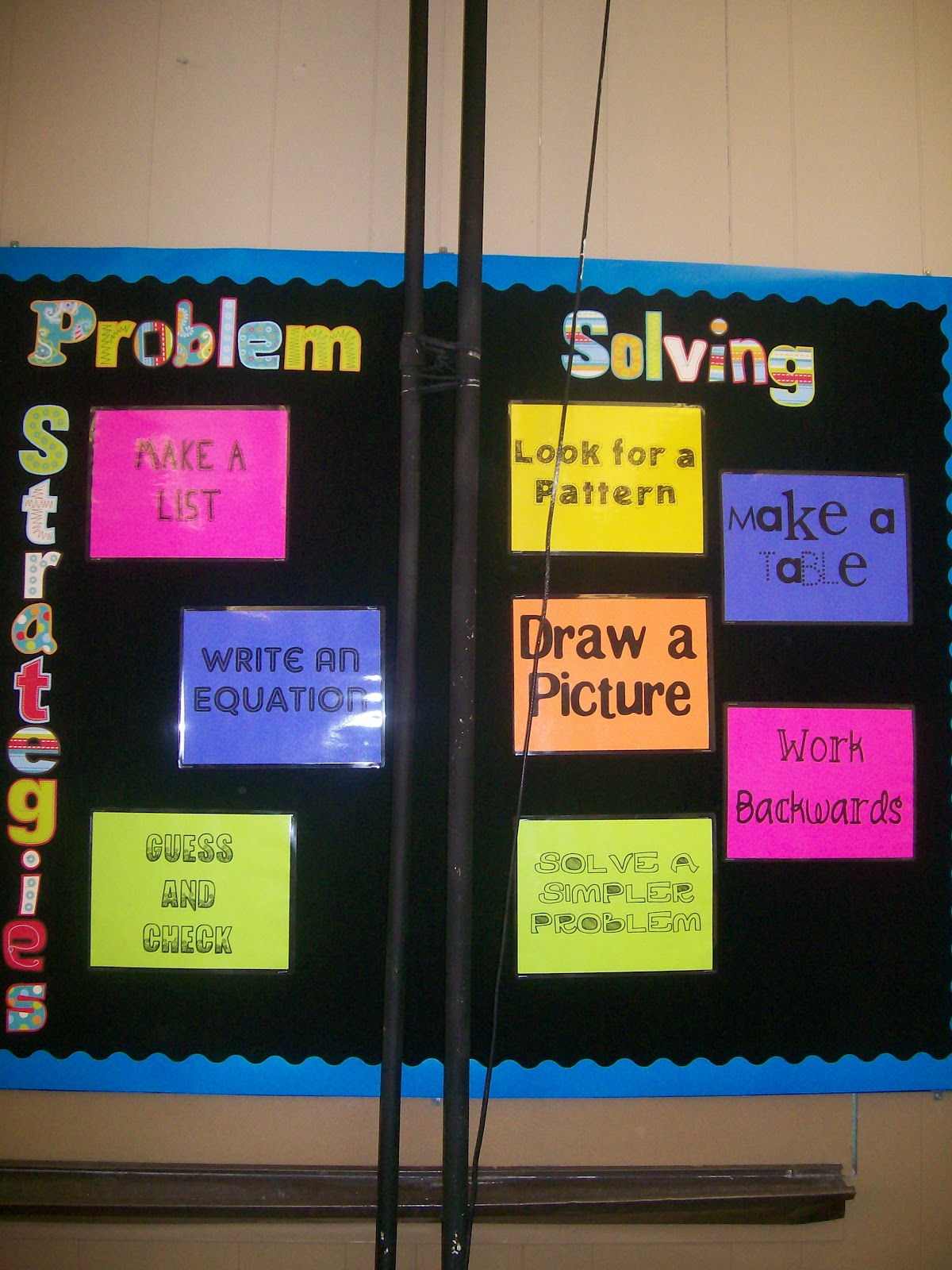 Math love drawing pictures reflections on problem solving for Art classroom decoration ideas