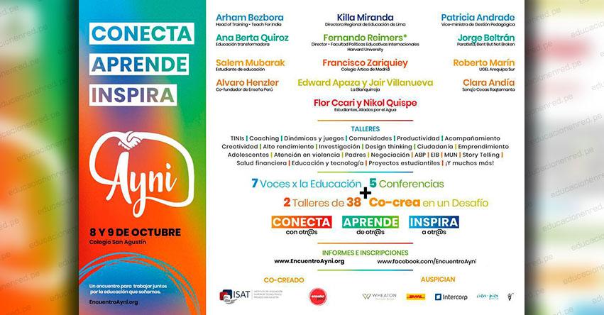 Participa gratis del Encuentro Educativo Ayni 2019 en el Colegio San Agustín