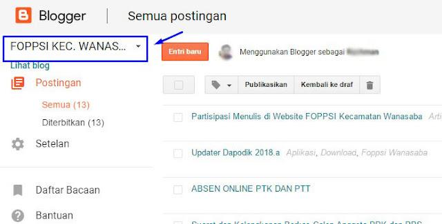 Cara konfirmasi penulis tamu di situs web FOPPSI Kecamatan Wanasaba