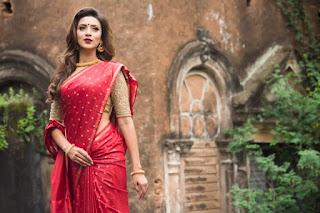 Bidya Sinha Saha Mim In Sexy Red Saree