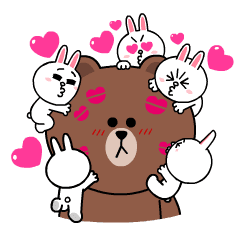 Brown & Cony's Heart-Throbbing Love