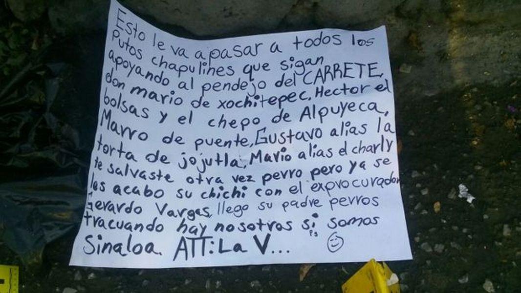 Localizan cuerpo desmembrado junto a amenaza cerca de módulo de la Policía en Morelos