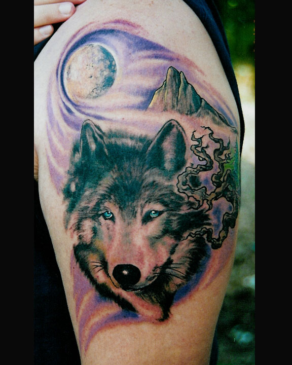 Wolf Howl Tattoo