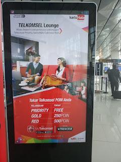 Jumlah poin untuk penukaran pada Telkomsel Lounge