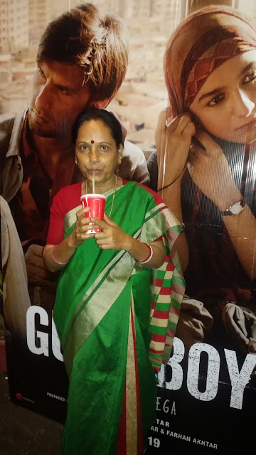 Sunanda Das watching the movie Gully Boy