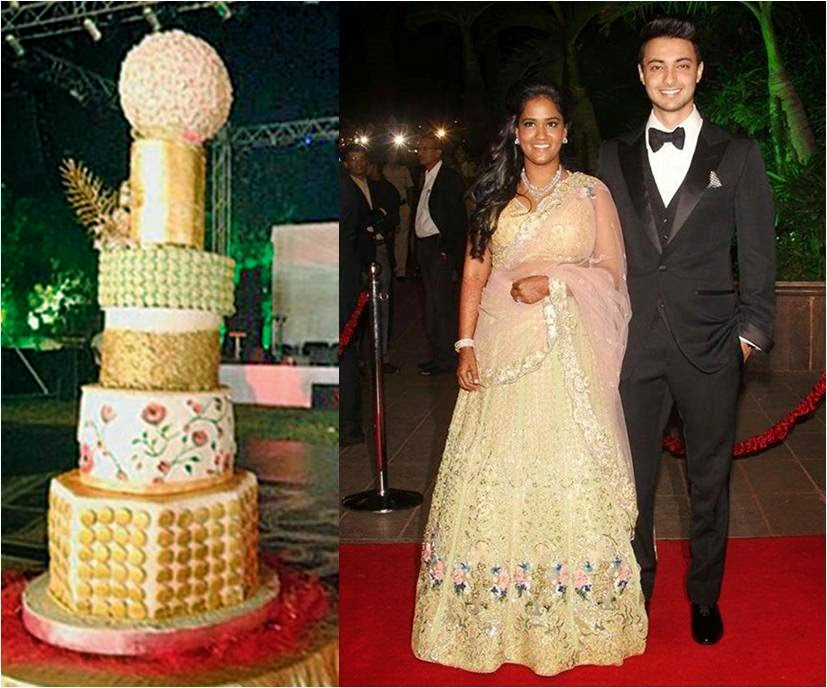 Wedding cake of Aayush and Arpita's marriage