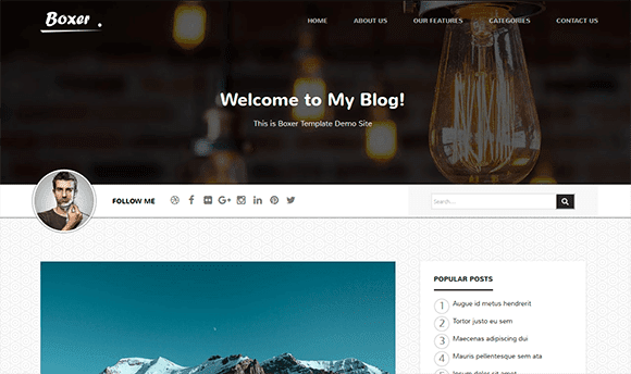 Boxer Blogger Template