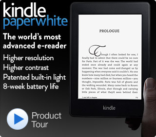 Kindle Paperwhite, Touch Screen Ereader with Built-in Light