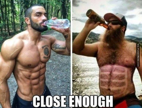 Funny Close Enough Beer Six Pack Meme Joke Picture