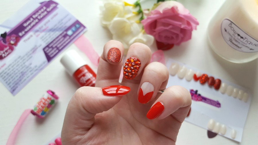 Nail Art, Red Nails, Nail Subscription Box, Gemstone Nails, Nail Swag, The Style Guide Blog