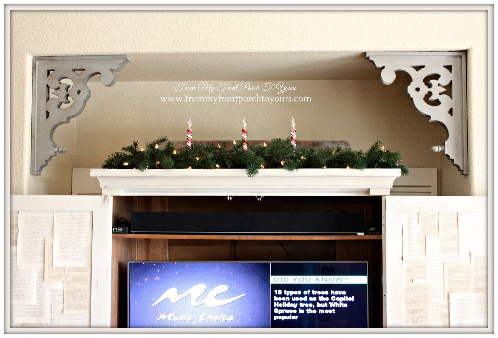 Farmhouse- Vintage- Christmas -Living Room-Corbels-French Country- From My Front Porch To Yours