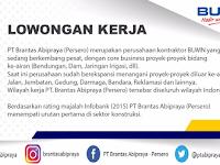 Lowongan kerja SENIOR PROJECT MANAGER PT Brantas Abipraya (Persero)