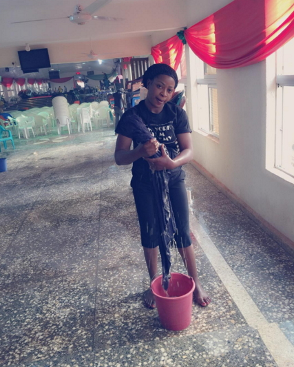aneke twins mopping church