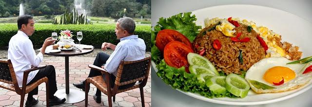 Nasi goreng Obama, Nasi goreng Indonesia, kerupuk, Barack Obama, Jokowi, wisata kuliner, resep nasi goreng, maknyus, Obama Jokowi