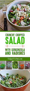 Crunchy Chopped Salad with Gorgonzola and Radishes found on KalynsKitchen.com
