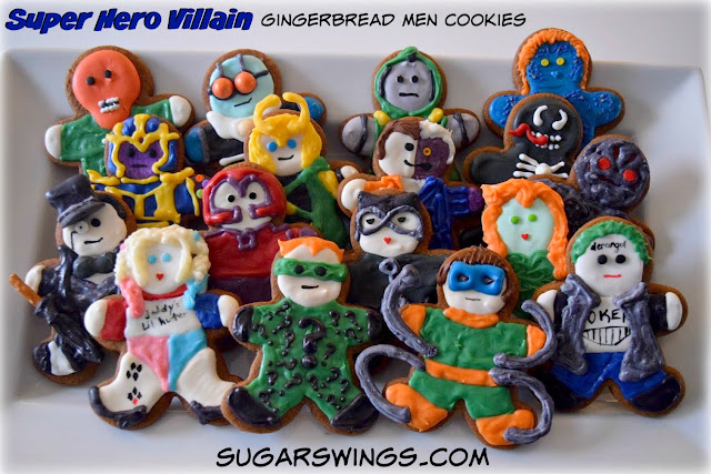 Super Hero Villain Gingerbread Men Cookies