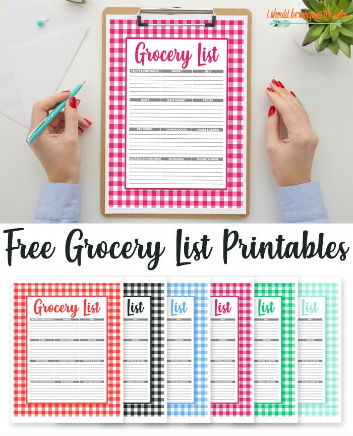 Preppy Grocery List