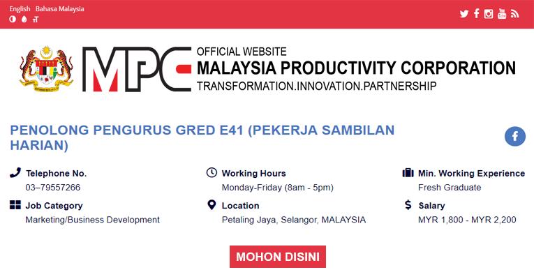 Perbadanan Produktiviti Malaysia MPC