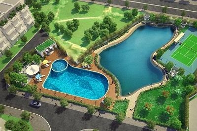 Tiện ích bể bơi dự án biệt thự, chung cư Athena Đại Kim