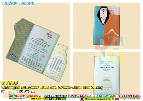 Undangan Softcover Bride And Groom Galuh Dan Gilang
