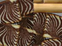 Resep Mudah Kue Bolu Zebra Kukus