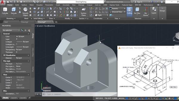 Autocad tutoriales tips y trucos dibujar s lido 3d en for Programa para hacer planos 2d