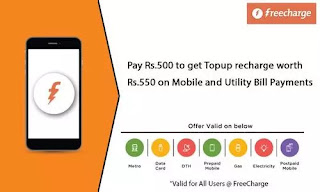NearBuy Loot - Get Rs.550 Recharge at Rs.450 Only At Freecharge (All Users)