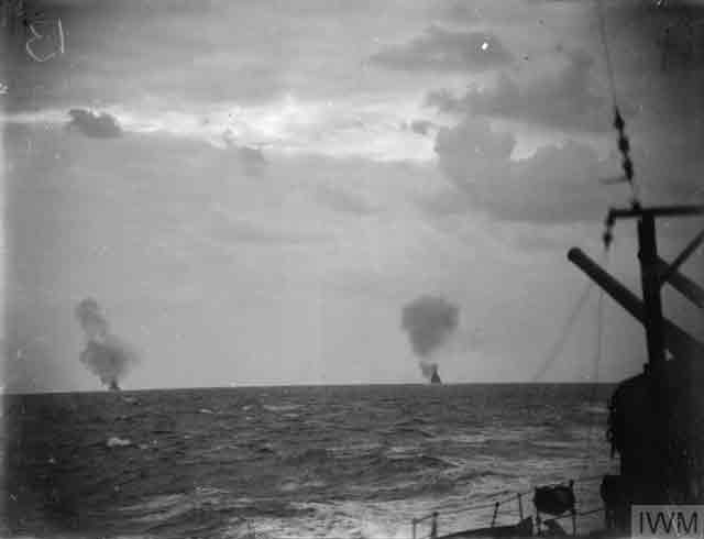 Photo from HMS Naiad during a war patrol in the Mediterranean, 14 December 1941 worldwartwo.filminspector.com