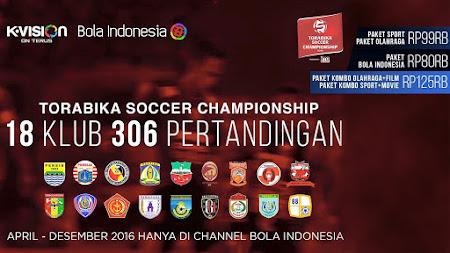 Paket K-Vision Torabika Soccer Championship 2016