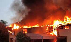 Fire broke out in the Imperial Auto Company in Faridabad;