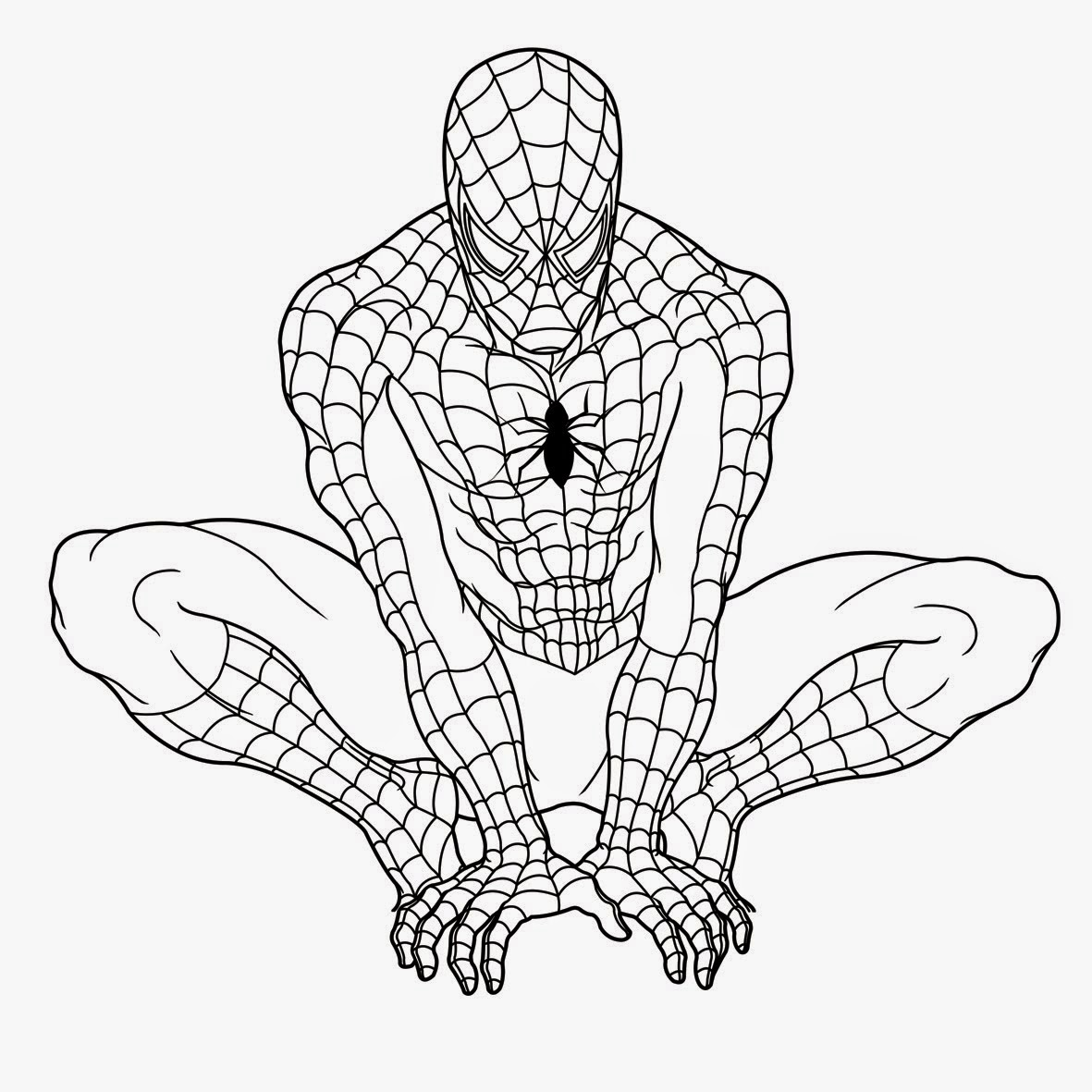 Colour Drawing Free Wallpaper: The Printable Spiderman