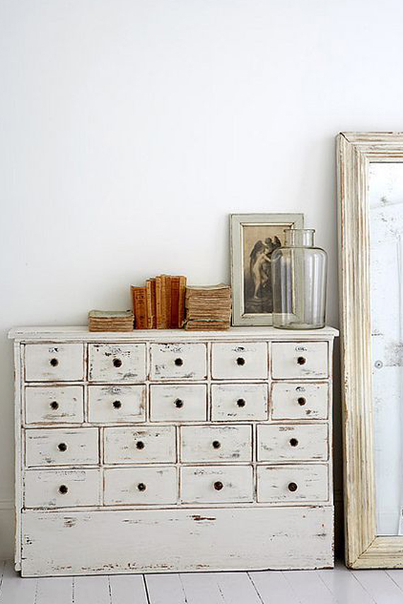 white painted furniture shabby chic style