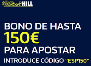 williamhill bono bienvenida 150 euros