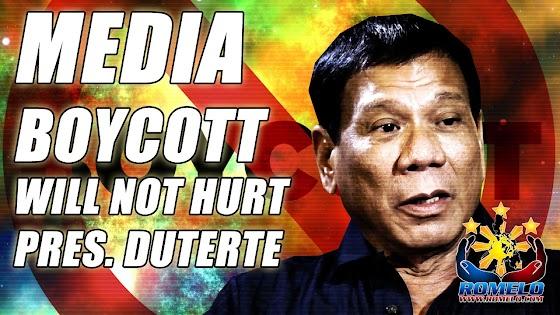 Media Boycott Will Not Hurt Duterte ★ It Will Only Hurt The People
