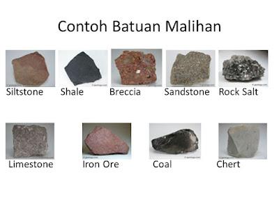 Jenis - Jenis Batuan Malihan (Metamorfosis)