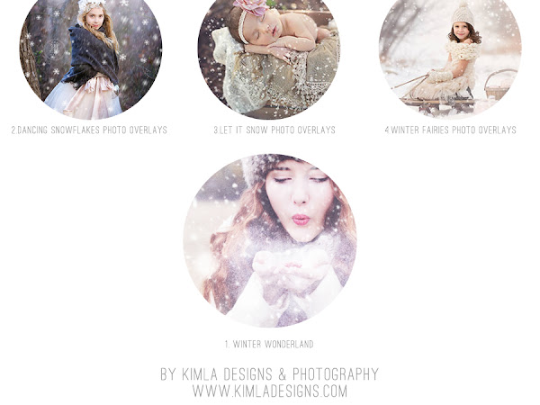 Let it Snow - Top 4 Favorite Snow Photo Overlays !