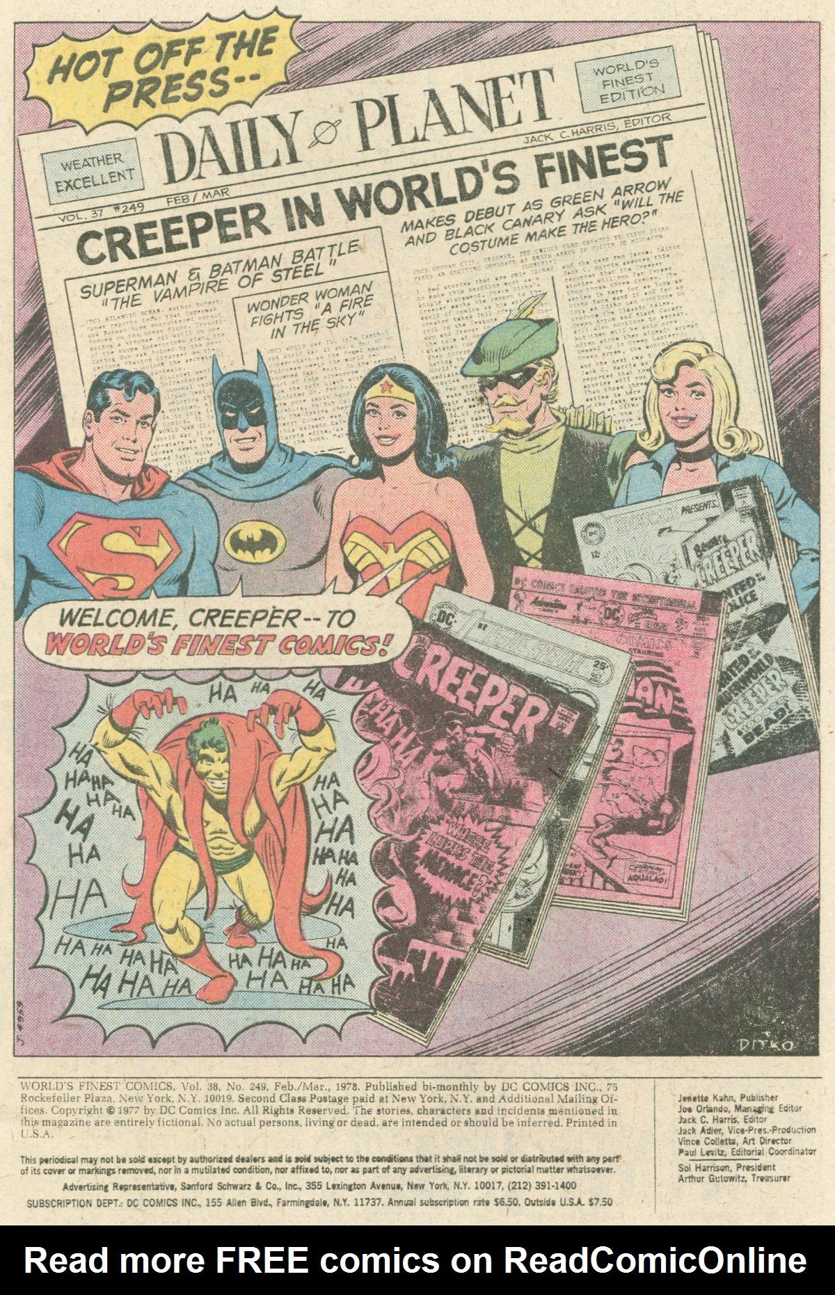Read online World's Finest Comics comic -  Issue #249 - 2